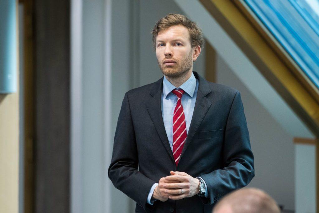 Oljefondets pressetalsmann Thomas Solberg Sevang